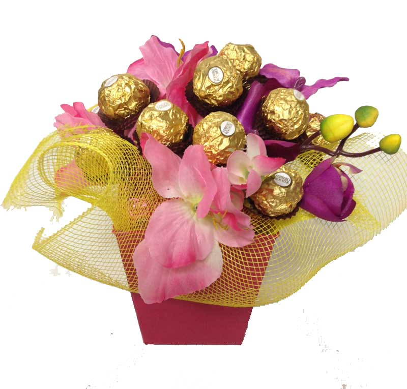 how to make chocolate bouquet gift box