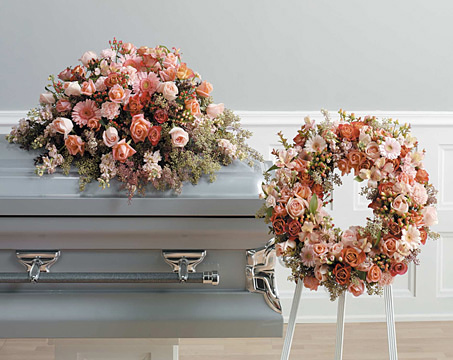 Gentleness Casket Spray and Wreath