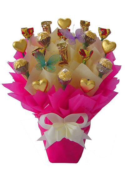 Chocolates & Hearts Bouquet