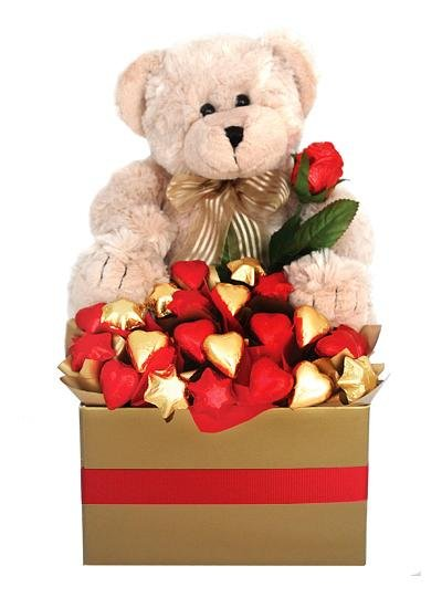 Loving Chocolate Bouquet & Bear